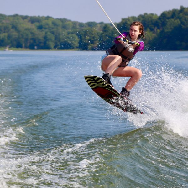 Young Women Wakeboarding